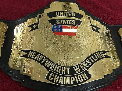 Wcw United States Championship Replica Belt In 4Mm Brass Plates!