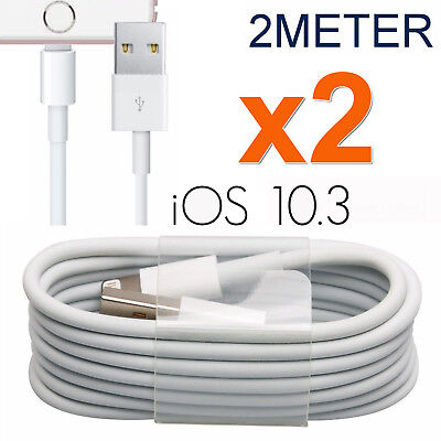 2M Fast Charging USB Data Charge Wire Cable for iPhone 7Plus 6S 7S iPad Air Pro