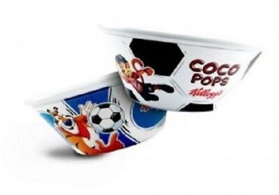 4 x Kelloggs Hard Plastic Cereal Bowls Brand New Footbowls Collectible