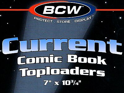 "BCW Comic Book Toploaders 7"" x 10 3/4"" 5mm Thick (10 pack) New"