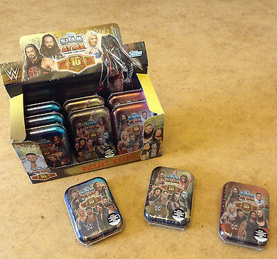 WW SLAM ATTAX 10th EDITION TRADING CARD MINI TIN = 39 CARDS & 1 FLIX-PIX CARD