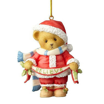 Cherished Teddies You're My Reason To Believe 2017 Santa Series Ornament 4059135