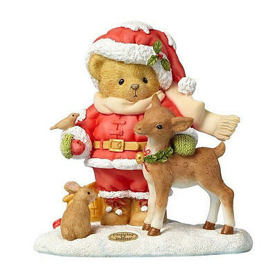Cherished Teddies 'Share A Little Love' 2017 Santa Series Figure 4059136
