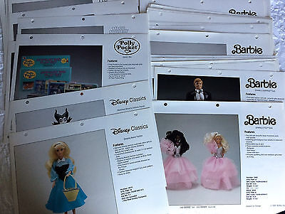 1991 MATTEL CATALOG PHOTOS/SELL SHEETS  for GIRLS line