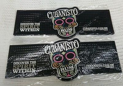 2 x Cubanisto Rum Flavoured beer thick rubber bar runners new