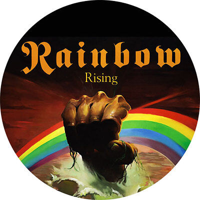 CHAPA/BADGE RAINBOW . pin button dio richie blackmore deep purple black sabbath
