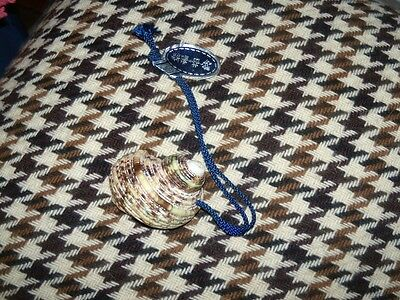 Japanese bell of a Sea Shell On a rope NWT VINTAGE