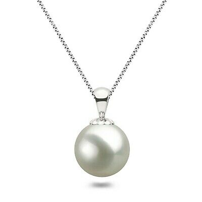"""AAAA Japanese Freshwater Pearl Pendant Necklace 16""""/18"""" 925 Sterling Silver Sets"""