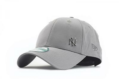New Era Mens 9Forty Baseball Cap.new York Yankees Flawless Grey Curved Peak Hat