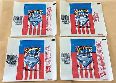 1983 Topps Superman III Lot Of 20 Wrappers