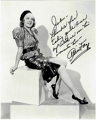 Alice Faye Autograph Hand Signed Photograph 8786