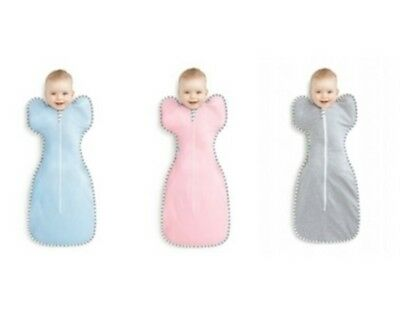 Love to Dream Original Zip Up Baby Swaddle Blue Pink Grey