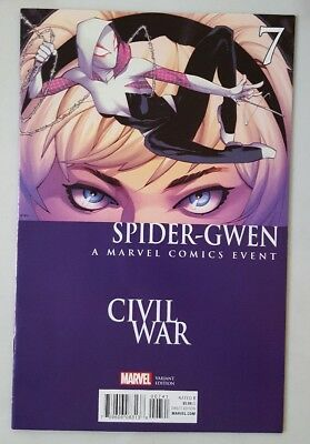 Spider-Gwen #7 (2016) Marvel Comics Civil War Variant Cover Special 1St Print Nm