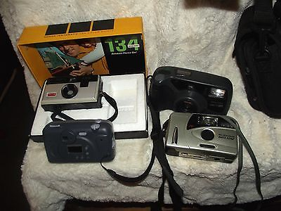 Lot of 5 film cameras, not tested, working last used, not tested, sold as NOT
