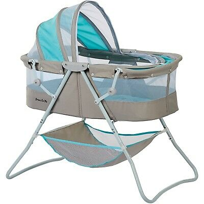 Dream on Me Karley Bassinet Blue and Gray
