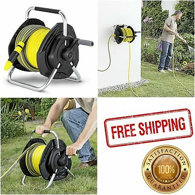 Outdoor Compact Watering Pipe Enclosed Garden Wall Mounted Hose Reel Versatile