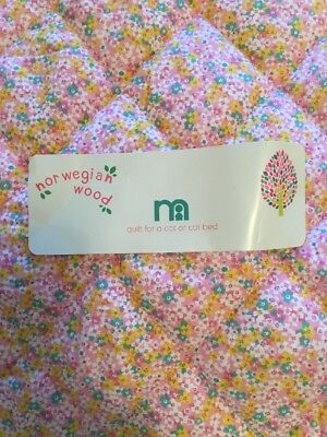 *** Brand New *** Mothercare Norwegian Wood Cot / Cot Bed Quilt