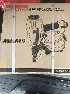 Brand New Makita 1-1/4 Inch to 2-1/2 Inch Coil Siding Nailer AN611
