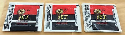1982 Topps E.T. The Extra-Terrestrial Trading Cards Lot Of 45 Wax Pack Wrappers