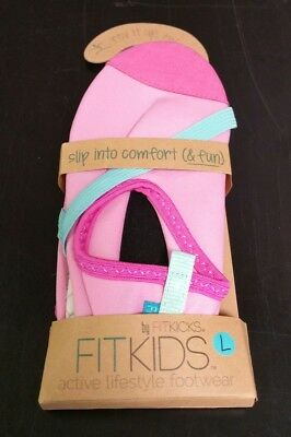 Fitkicks Fitkids Child Active Lifestyle Footwear Size L 1-2.5 Pink New