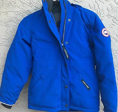 New Canada Goose Vernon Parka Blue Boy's Size Large (14-16)