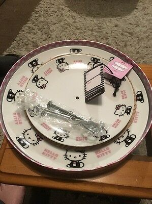 Hello Kitty 2 Tier Porcelain Cake Stand - Ma Cheri Pink
