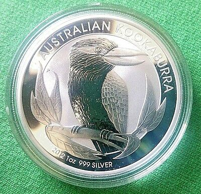 2012 Australia Kookaburra 1 oz. Silver Coin - BU Perth Mint (from Mint Roll)