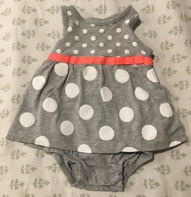 Carter's Infant Baby Girl's One-Piece Cotton Outfit Romper Size 3 Months EUC!