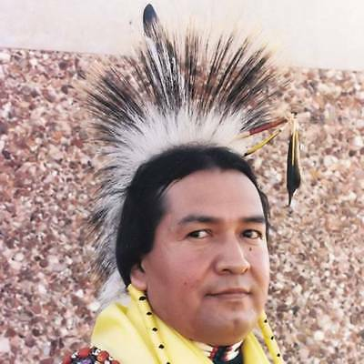 Porky Roach White Deer Hair Hand Tied Pow Wow Regalia Dance Native