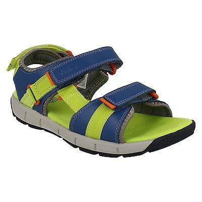 INFANT BOYS CLARKS SURFING WAVE OPEN TOE RIPTAPE CASUAL SPORTY BEACH SANDALS
