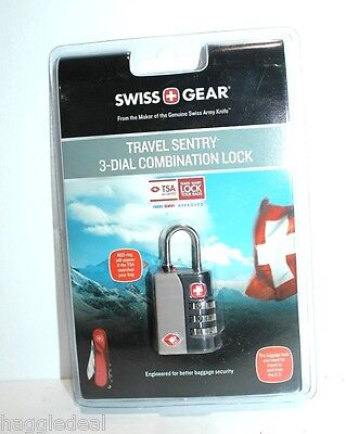 Swiss Gear Travel Sentry 3 Dial Combination Lock Accepted By Tsa