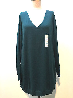 Old Navy Maternity Green Cotton Blend Long Sleeve Pullover Sweater Size L Top