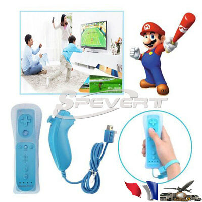 2 in 1 Motion Plus Remote + Nunchuck Controller Joystick for Nintendo Wii U