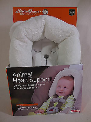 Eddie Bauer Infant Baby Animal Head Support Bear New Use For Car Strollers