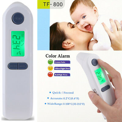 Digital IR Forehead Ear Infrared Alarm Medical Boby Safe Baby Kids Thermometer