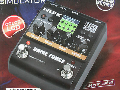 NuX Drive Force modelling stomp simulator 10 distortion 12 cabinet models boxed