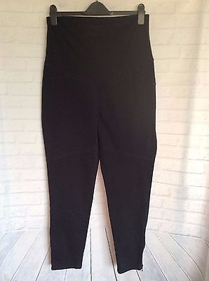 DANNII MINOGUE MATERNITY ~Blue Straight Leg Pants ~Pre-Loved Size approx 10/12