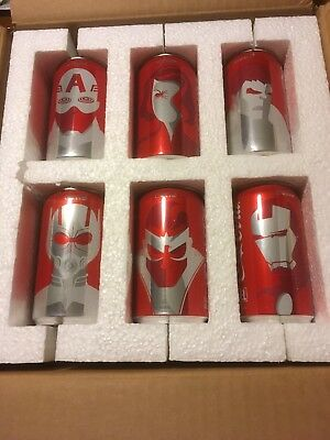 """Marvel Avengers Special """"COLLECTOR'S Edition Mini Coca Cola Cans"""