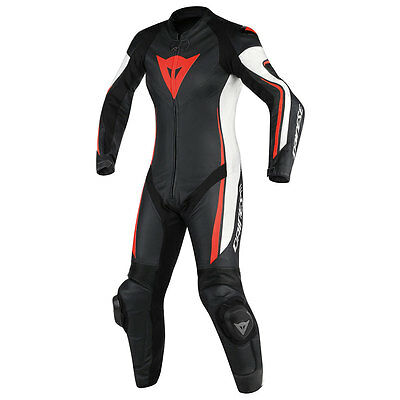 Dainese Assen Black / White / Fluo Red Moto Ladies One Piece Suit All Sizes