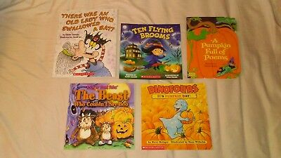 5 Mixed Halloween Children's Picture Book Lot