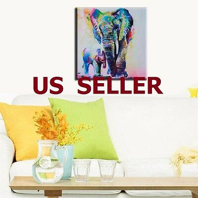 Modern Hand painted Art Oil Painting Abstract Wall Decor Elephant on Canvas
