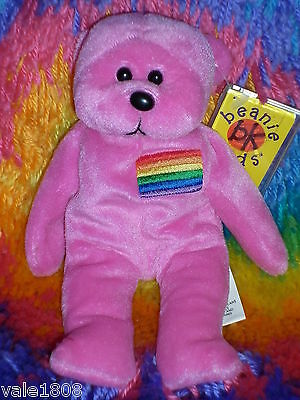 Beanie Kids Mardi the Rainbow Bear BK #129 Factory error Tush tag says Mardie