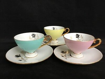 VINTAGE Australian WESTMINSTER FINE CHINA Harlequin TEACUP SET 624