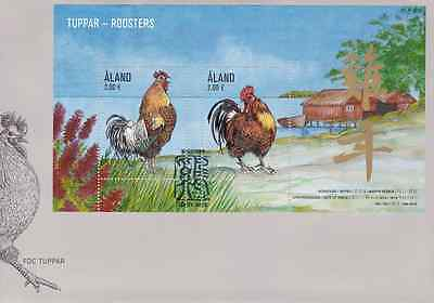 ALAND - 2016 - FDC: Roosters. Miniature Sheet