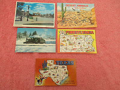old  postcards america pennsylvania edaville railroad south west texas