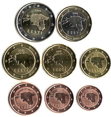 Estonia 2011 - Set of 8 Euro Coins (UNC)