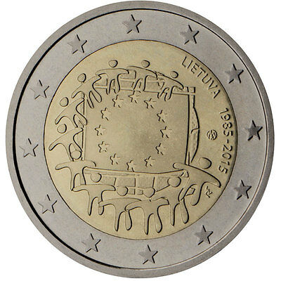 Lithuania 2015 - 2 Euro Comm - 30th Anniversary of the European Flag (UNC)