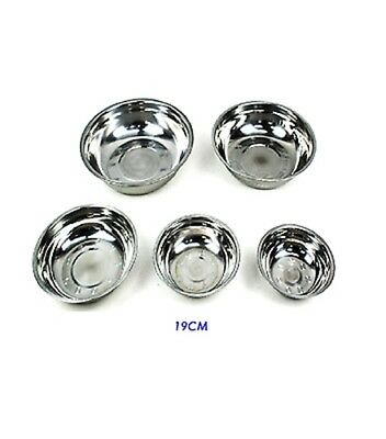 12 x MEDIUM 19cm Stainless Steel Bowls Salad Mixing Bowls Bulk Wholesale Lot