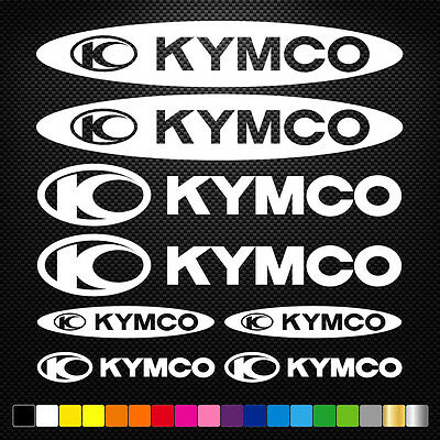 12x KYMCO Vinyl Decal Stickers Sheet Motorcycle Sponsors Auto Tuning Quality