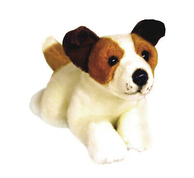 "*NEW* LYING JACK RUSSELL TERRIER ""SPARKY"" PUPPY PET DOG SOFT PLUSH TOY 28cm"